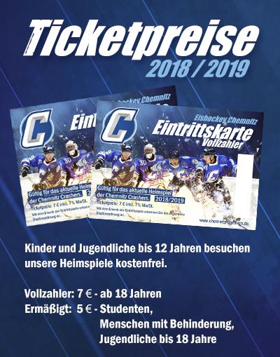 Eintrittskarten Chemnitz Crashers