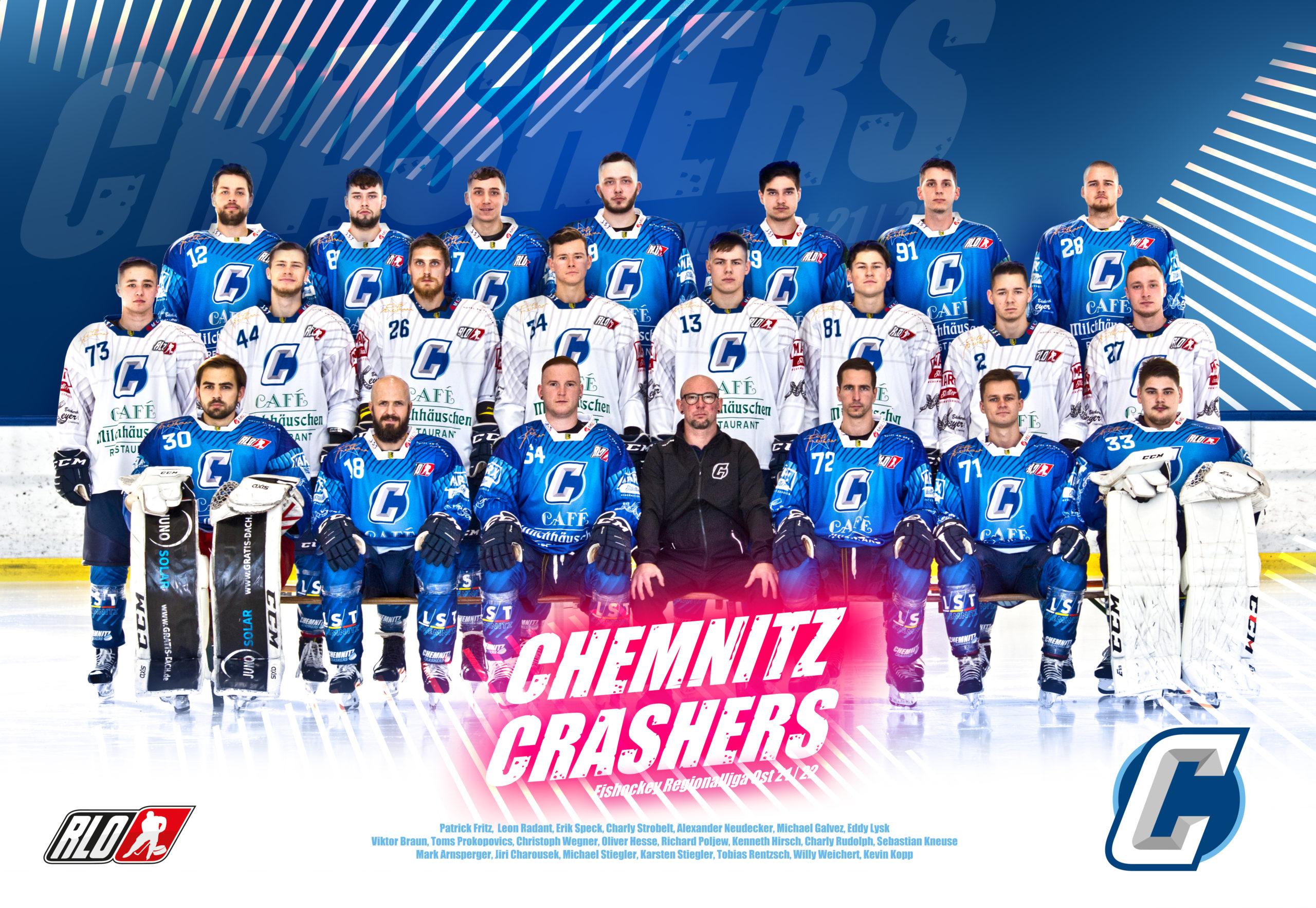 Mannschaft_Chemnitz_Crashers_Eishockey_Regionalliga_Ost_2021_2022